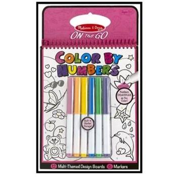 Color by Numbers. Carnet de colorat pe numere, Roz