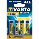 Baterii alcaline Varta R3 AAA longlife 4 bucati