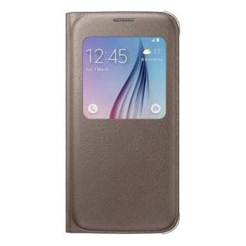 Husa S-View Cover Samsung pentru Galaxy S6 EF-CG920PFEGWW, Auriu