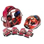 Set accesorii protectie pentru bicicleta, role, trotineta Saica 5822 Ladybug Buburuza Miraculoasa