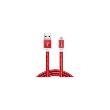 Cablu de date ADATA microUSB 1m - Red amucal-100cmk-crd