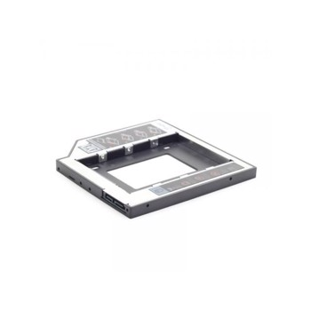 "HDD Rack RACK CADDY GEMBIRD HDD/ SSD pentru CD/DVD Bay, pentru Notebook, Ingust, 9.5mm""MF-95-01"""