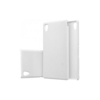 Husa Sony Xperia Z L36H Nillkin Frosted Shield Alb + Folie de protectie