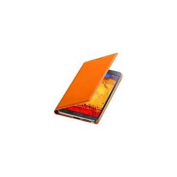 Husa Samsung Wallet Flip Cover EF-WN900BOEGWW pentru Galaxy Note 3 (Portocalie)