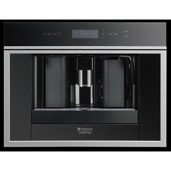 Espressor automat incorporabil Hotpoint MCK 103 X, 1350 W, 1.8 L, 15 bar, Gri