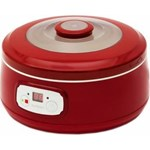 Aparat de preparat iaurt Oursson FE1502D/RD, 20 W, 1 L, 5 recipiente, Timer, Rosu