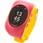 Smartwatch MyKi Smartwatch Watch de urmarire si localizare GPS/GSM pentru copii, Roz Galben
