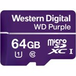 Card Memorie Western Digital Purple Micro SDXC, 64GB, Clasa 10, UHS-I U1