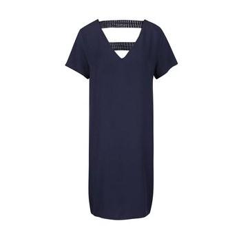 Rochie albastru inchis cu detalii din dantela VILA Sommi