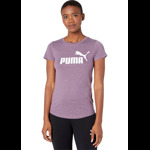 PUMA Essential + Logo Heather Tee Culoarea Plum Purple