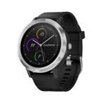 Ceas Smartwatch Garmin Vivoactive 3 GPS Argintiu Curea silicon Neagra 010-01769-02