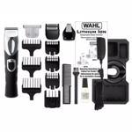 Set de ingrijire personala WAHL Lithium Ion Trimmer, acumulator, 120 min autonomie, 4 accesorii, negru