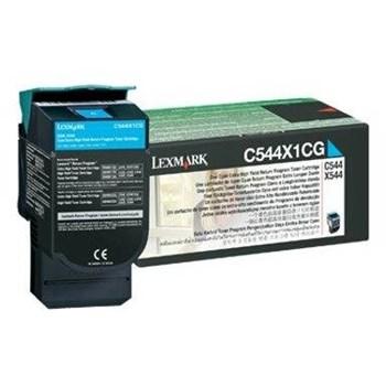Toner laser Lexmark C544X1CG Cyan, 4000 pagini