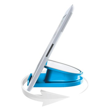 Suport rotativ pentru iPad/tableta PC, iPhone/smartphone, albastru, LEITZ Complete WOW