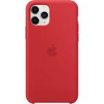 Husa de protectie Apple pentru iPhone 11 Pro, Silicon, Rosu