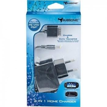 Alimentator priza Subsonic cu cablu USB alimentare/transfer date pt. PS Vita and PS3 / PC