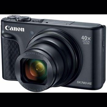 Aparat Foto Digital Canon PowerShot SX740 HS, 20.3 MP, Filmare Ultra HD 4K, Zoom optic 40x (Negru)