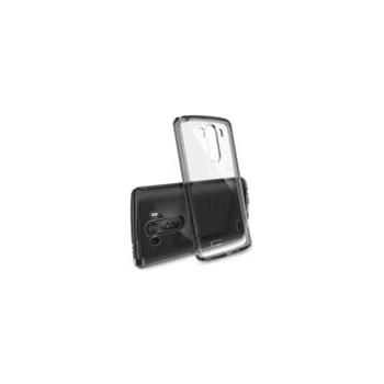 Husa Protectie Spate Ringke FUSION Smoke Black plus folie protectie pentru LG G3