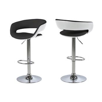 Set 2 scaune de bar Grace Black/White