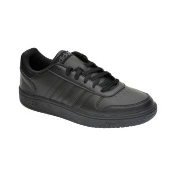 Pantofi sport ADIDAS negri, HOOPS 2.0, din piele ecologica
