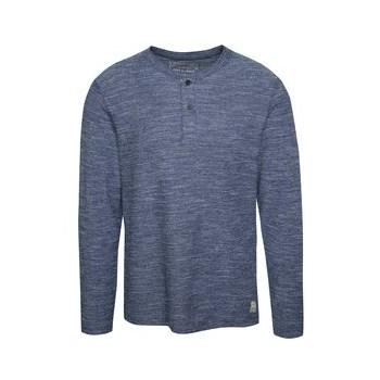 Bluza albastru deschis melange Jack & Jones Sebastian din bumbac