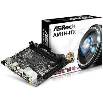 Placa de baza ASRock AM1H-ITX, AMD AM1, Dual, DDR3-1600, 4x SATA3, HDMI, DVI, DP, mITX