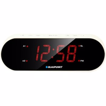 Radio cu ceas Blaupunkt CR6WH, FM radio, Dual Alarm, Alb