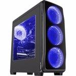 Sistem Desktop Gaming MYRIA Style V56, AMD Ryzen 5-3600X pana la 4.4GHz, 16GB, 1TB + SSD 120GB, NVIDIA GeForce GTX 1070 8GB, Ubuntu