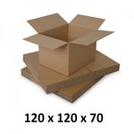 Cutie carton 120x120x70, natur, 5 straturi CO5, 690 g/mp