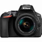 Aparat Foto DSLR Nikon D5600 Kit AF-P 18-55mm VR Black VBA500K001