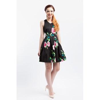 Rochie casual dama Louche London negru-multicolor