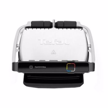 Gratar electric Tefal OptiGrill Elite GC750D30 12 programe 30x20cm Termostat reglabil Negru-Inox gc750d30