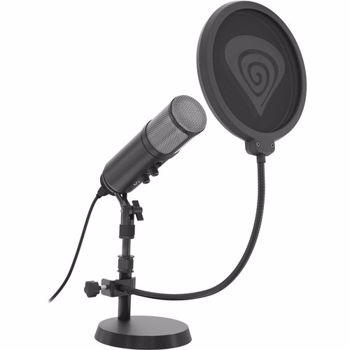 Microfon condensator NATEC Genesis Radium 600 Jack 3.5 mm USB negru gnsis_radium600