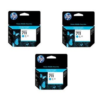 Set 3 Cartuse hp HPINK-CZ134A, Albastru