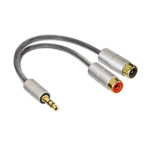 Adaptor audio stereo 80859 Hama, 2RCA, 3.5 mm