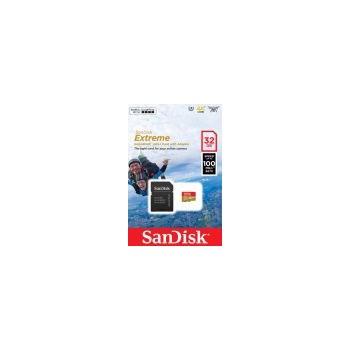 Card de Memorie SanDisk Micro SD Extreme 32GB Clasa 10 U3 V30 A1 100MBs + Adaptor SD SDSQXAF-032G-GN6AA