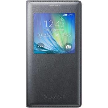 Husa Flip S-View Samsung Galaxy A5 A500 2015 Chacoal saef-ca500bcegww