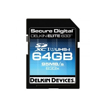 Delkin SDXC 64GB 633X UHS-I - card cu scriere 45MB/s