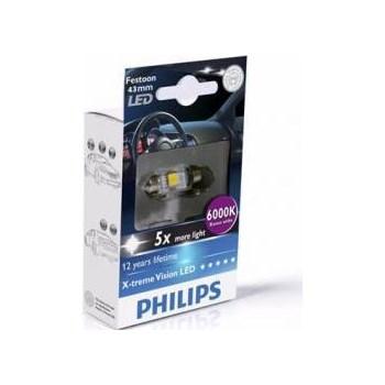 Bec cu LED Philips SV8.5 12V 1W 11 41mm X-Treme Vision a_12946 1led