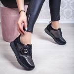 Pantofi sport dama Piele negri Rocama-20