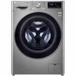 Masina de spalat rufe frontala LG F4WN609S2T, 6 Motion, Wi-Fi, 9kg, 1400rpm, Clasa D, argintiu