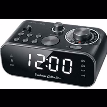 Radio cu ceas Muse Dual alarm M-18 CRB Negru mse00157