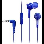 Casti PANASONIC RP-TCM115E-A, Cu Fir, In-Ear, Microfon, albastru