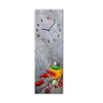 Ceas de perete Styler Glassclock Silver Spoon, 20 x 60 cm