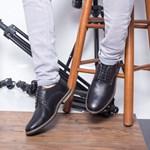 Pantofi barbati Piele Henrry negri casual
