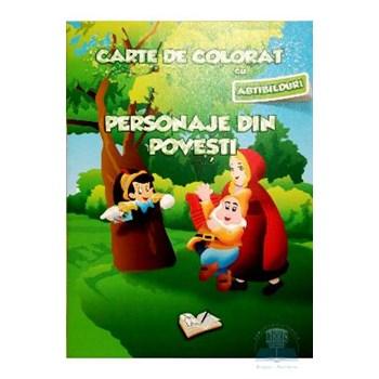 Carte de colorat cu abtibilduri - Personaje din poveste 9786065741553