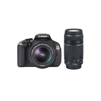 Canon EOS 600D + 18-55 DC III (fara IS) + 75-300 DC