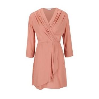 Rochie roz pal VILA Peach cu drapaje