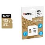 Card Memorie Emtec MicroSDXC Gold+ 64GB Clasa 10 + Adaptor SD ecmsdm64gxc10gp