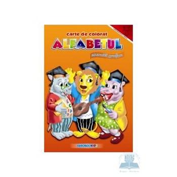 A4 - Alfabetul - Exercitii grafice - Carte de colorat